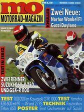 Mo 1990 2/90 Triton Suzuki GSX-R 750 yamaha FZR 600 Norton f1 bmw k 100 RS GTR