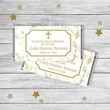 Marble Gold | Baptism/Christening Chocolate Wrappers {Digital File}