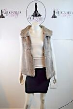 MICHEAL MICHEAL KORS 39117 GRAY RABBIT FUR VEST SZ M