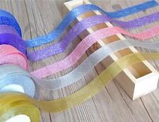 DIY 25 yards Glittering Gold Christmas Ribbon Cake Gift Package Grosgrain Ribbon