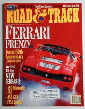 ROAD & TRACK CAR MAGAZINE 1997 JANUARY FERRARI 50TH ANNIVERSARY 550 F50 GTA F355