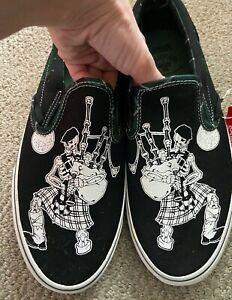Vans Slip On Dropkick Murphys Boston Shoes Mens Size 11