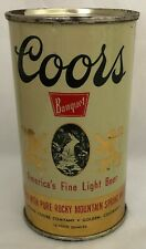 Coors Banquet 12 Ounce Flat Top Beer Can w/Red Lettering