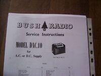 BUSH DAC10 SERVICE INSTRUCTIONS