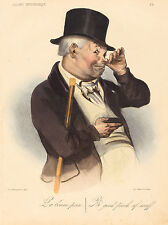 "Honore Daumier Reproductions: ""A good pinch of snuff"": Fine Art Print"