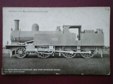 POSTCARD LNW 8 WHEELED COMPOUND TANK LOCO NO 777 - EXHIBITED AT MANCHESTER IN 18