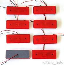 8 piezas LED 12v Rojo Trasera Luz De Lámpara Marcador Lateral Indicador Camión