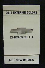 2014 CHEVROLET ALL-NEW IMPALA  DEALERSHIP EXTERIOR COLOR CHART NEW