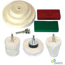 9pc Kit de Polissage Dôme Gobelet Cylindre Serpillière Roue à Polir Composé