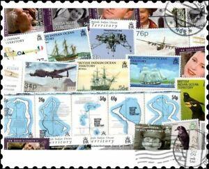British Indian Ocean Territories BIOT : 25 Different Stamps Mixture