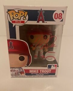 Mike Trout Signed Los Angeles Angels Funko Pop #08 MLB Authenticated VS197124