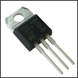 BTB16-600BW STM Triac Thyristor 16A 600V TO220-3 THT 50mA