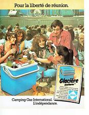 Publicité Advertising 058  1978   Camping Gaz  glacière Isotherm