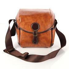 Vintage Retro Britpop Digital SLR DSLR Camera Bag PU Leather Messenger Bag Case