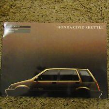 HONDA CIVIC SHUTTLE 4WD German Market Sales Brochure Prospekt 1980s