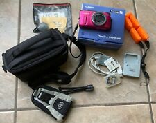 Canon PowerShot SX260 HS 12.1MP Digital Camera - Red and Accessories