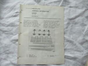 New Holland TR-70 hillside kit assembly service information manual