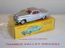 ATLAS EDITIONS DINKY TOYS, 549, BORGWARD ISABELLA COUPE, SILVER, + CERT OF AUTH
