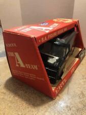 """Vintage 1983 The A-Team Van 11.5"""" Steel Ertl Black Gmc Vandura Ba Baracus"""