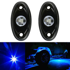 2x Blue LED Rock Light JEEP Off-road Truck Under Body Trail Rig Light Waterproof