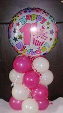 FOIL BALLOON TABLE DECORATION DISPLAY HAPPY 1ST BIRTHDAY AGE 1 AIR NO HELIUM RW