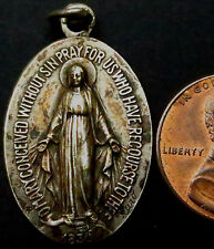 R658: 1830 Catholic Religious Medal or Icon - White Metal - Generic