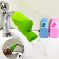 Children Bathroom Silicone Water Faucet Tap Sink Extender Kids Hand Wash