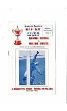 More details for 1970 blantyre victoria v penicuik athletic scottish junior cup final programme
