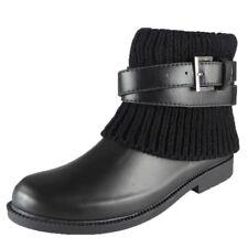 Womens Wellington Boots Winter Rain Flat Sock Ankle Wellies Shoes Size