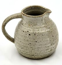 Vintage Handcrafted Student Studio Art Pottery Pitcher Stoneware Signed BO