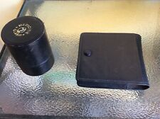 ANTIQUE LEATHER BOXES FOR HOLDING CIGARS? & THE OTHER FOR HOLDING MEDICINE GLASS