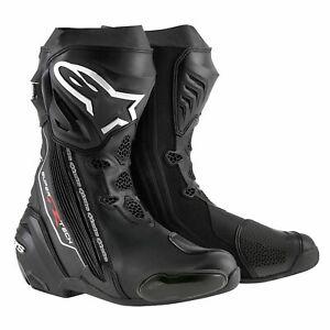 Alpinestars Supertech R Motorcycle Motorbike Boots - Black