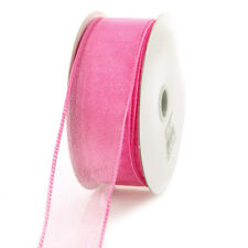 Sheer Chiffon Ribbon Wired Edge, 1-1/2-inch, 25-yard