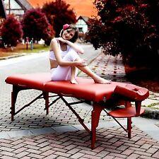 "Master Massage 31"" Santana Pro Portable Massage Table Package Reiki Mountain Red"
