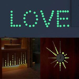 Stickers Round Dot Wall Sticker Removable Glow Gifts Decal Home Ceiling Decor BB