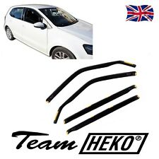 DVW31178 VW POLO 6R 5 DOOR 2009-up WIND DEFLECTORS 4pc  HEKO TINTED