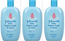 Johnson's Baby Bubble Bath & Wash 15oz ( 3 pack )