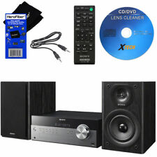 Sony Music Stereo System w/NFC, Bluetooth, USB, CD & AM/FM + Cleaner + Aux Cable