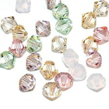 SCB5509 Tenderness Mix Green Pink Purple 6mm Bicone Swarovski Crystal Beads 24pc