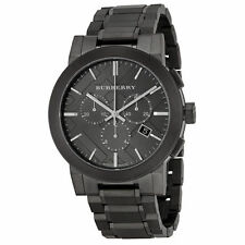 Burberry BU9354 Chrono Gunmetal Dial Grey Ion-plated Stainless Steel Mens Watch