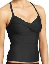 NWT WOMENS ATHLETA BLACK TWISTER TANKINI SWIMSUIT TOP SZ 36 B/C TALL