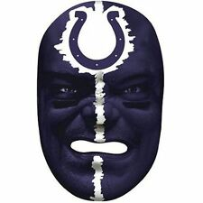 NFL Football Indianapolis Colts Fan Face Warrior Mask Logo Game Tailgate Stadium