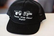Rare Vtg County Wide Diesel Repair Rope Bil Mesh Trucker Snapback Hat Cap