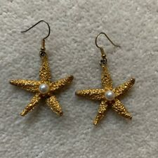 Vintage Starfish Earrings With Pearl Centre Rixo like