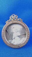 ancien petit cadre porte photo medaillon en laiton doré style L XVI 19e 2
