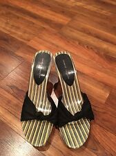 Chinese Laundry Wedge Sandals 9 Black Summer