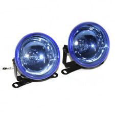 Universal 12V Clear Front Fog Spot Lights Lamps Blue Halogen Light 90mm Car Van