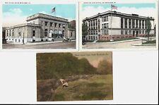 3 Vintage Postcards South Bethlehem Pa: Sancon (Saucon?) Creek,Po,South Side Hs
