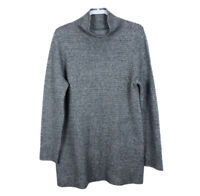 J. Jill Women's Size L Gray Wool Blend Cowl Neck Sweater Tunic
