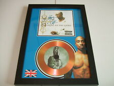 2 PAC    SIGNED  GOLD CD  DISC